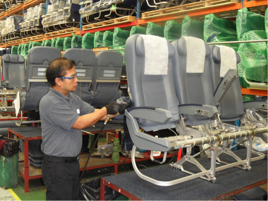 Aircraft Seat Overhaul And Modification Repair Covers Cleaning