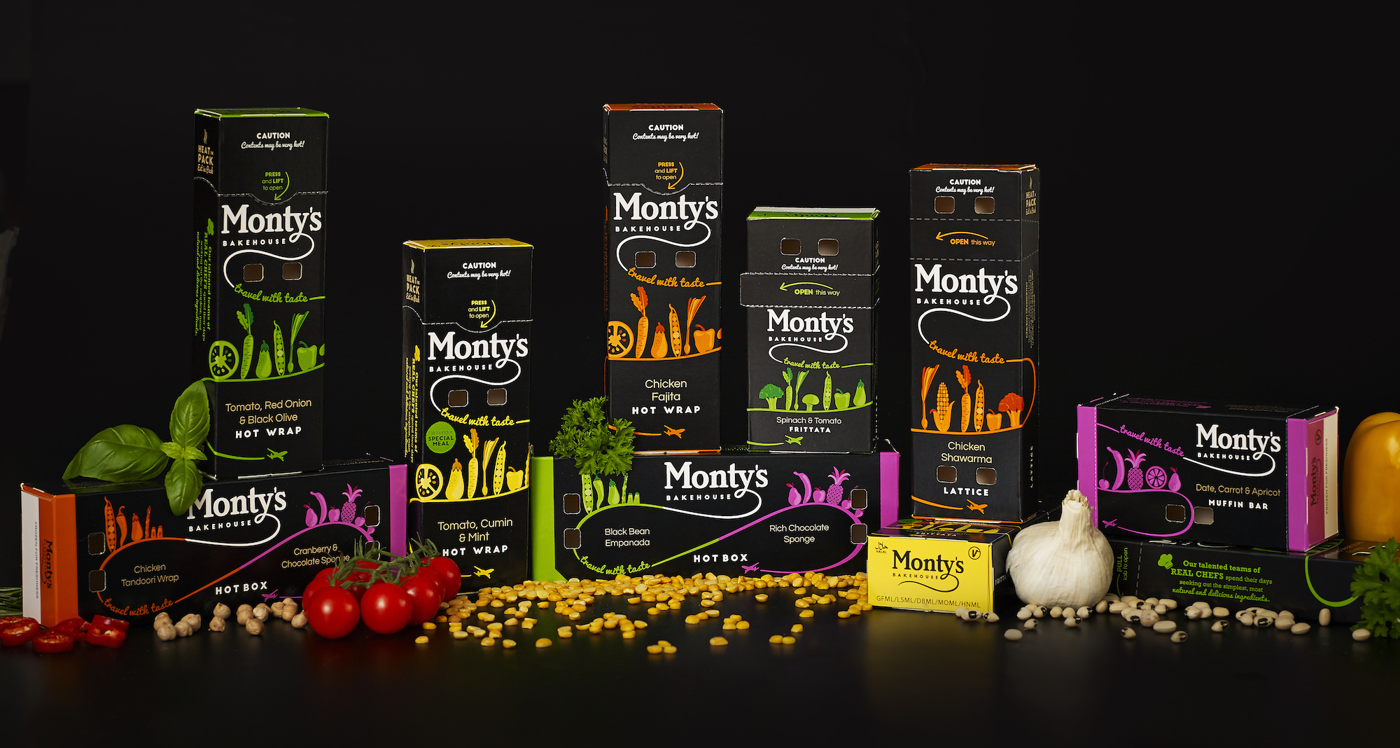 Airline Hand Held Snacks and Bakery Goods - Monty's Bakehouse