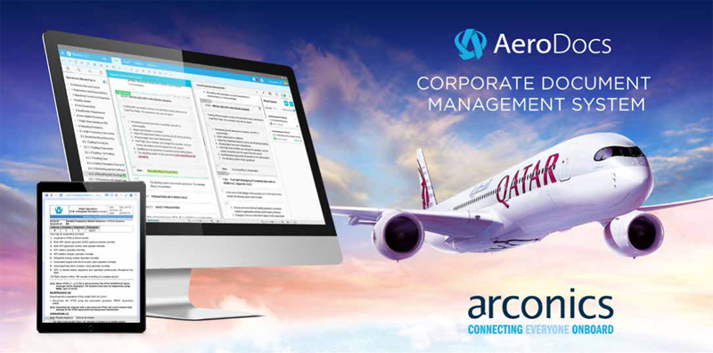 Qatar Airways Goes Live with AeroDocs Software by Arconics