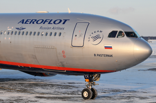 Aeroflot shares chart and trends