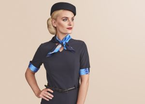 Airline flight attendant uniform
