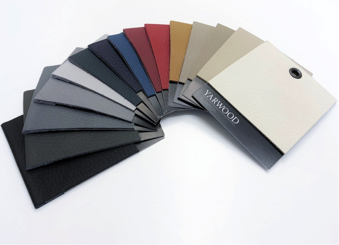 Yarwood Aviation Leather available in fifteen standard colours