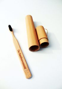 Bamboo Toothbrush with Travel Case