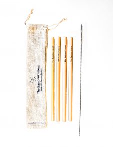 Bamboo Straws with Cleaning Brush