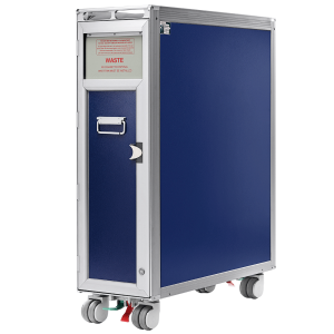 Aluflite full size waste trolley – Inflight galley equipment – Immediate delivery