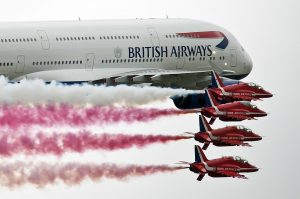 The Red Arrows Swap Their Hawk For A Jumbo