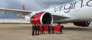 Virgin Atlantic's first A350 'Red Velvet' takes to the Skies