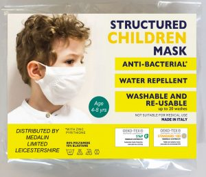 Children's Structured Protective Face Mask - 4-8 years