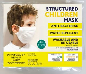 Children's Structured Protective Face Mask - 8-12 years