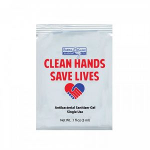Hand sanitizer gel single-use packets