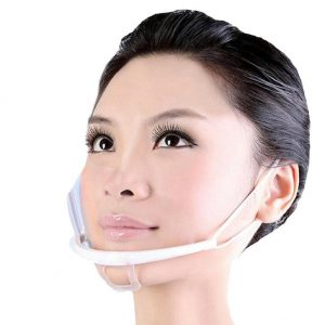 Transparent sanitary mask